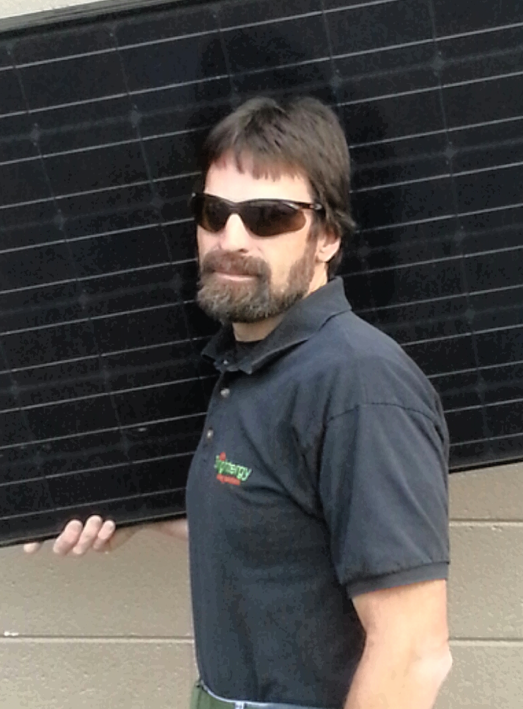 Photo of Brightergy solar installer Mark Cocks.
