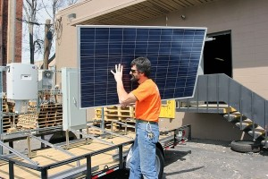 carrying solar panels horace mobile solar energy demo unit