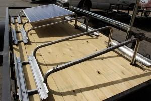 empty racking horace mobile solar energy demo unit