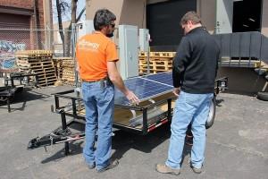 2 horace mobile solar energy demo unit