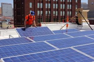 placing solar panels brightergy office solar array