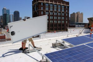 carrying solar panel brightergy hq