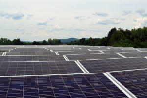 solar panels on UMass Amherst Computer Science Center