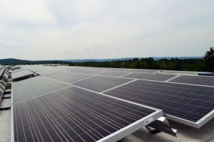 rooftop solar array at UMass Amherst Computer Science Center